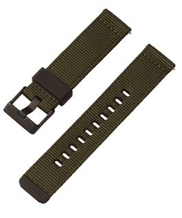 22mm Quick Release Green and Camo Fabric Strap Green large