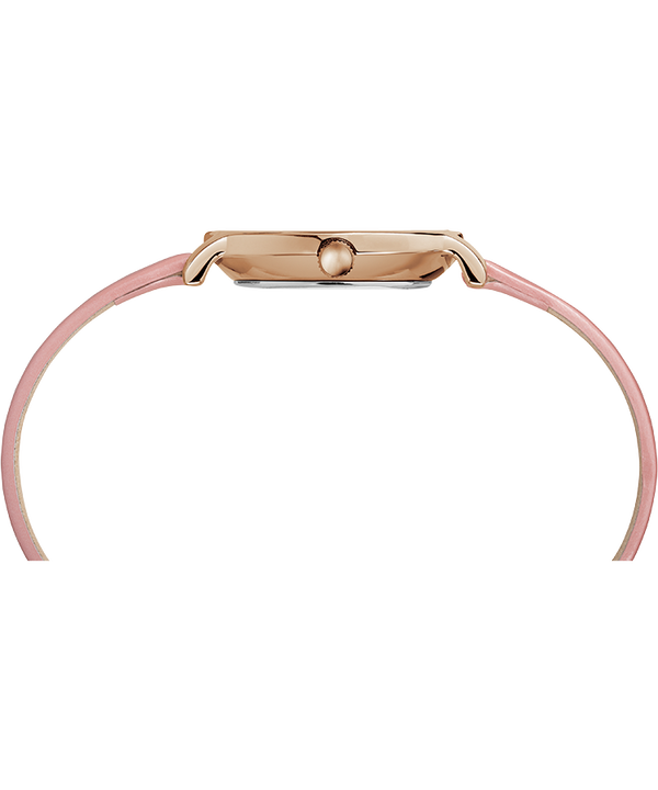 Milano Oval 24mm Patent Leather Strap Watch Rose-Gold-Tone/Pink/Silver-Tone large