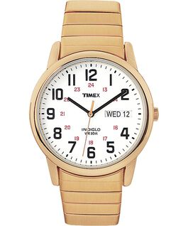 Easy Reader 35mm Stainless Steel Watch with Day Date Gold-Tone/White large