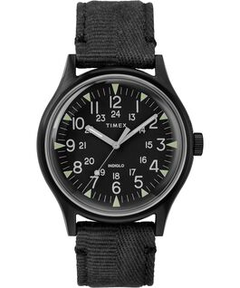 MK1 Steel 40mm Fabric Strap Watch Black large