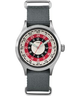 Timex x Todd Snyder MOD Inspired 40mm Fabric Strap Watch Silver-Tone/Gray/White large
