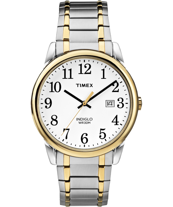 Easy Reader Date 38mm Expansion Band Watch Two-Tone/White large