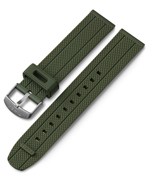 20mm Quick Release Silicone Strap Green large