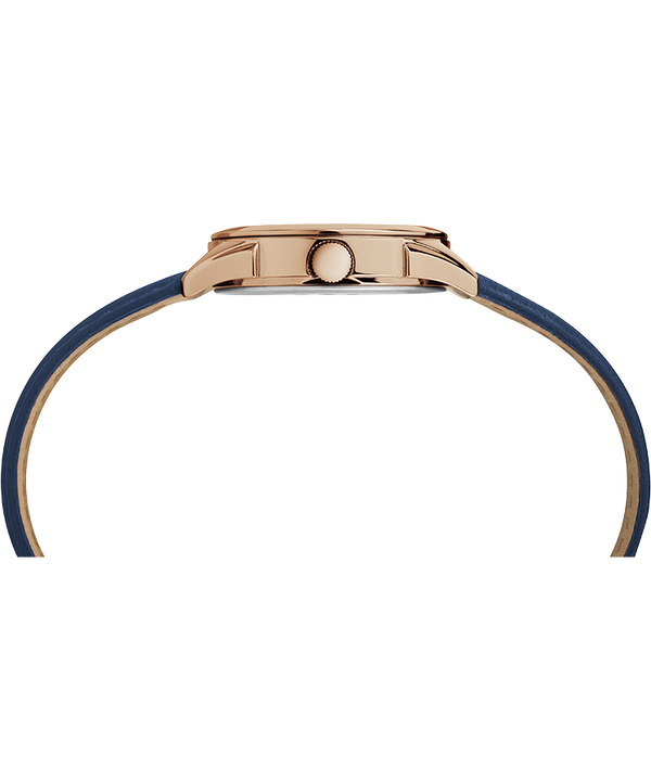 Torrington Women's 3-Hand 27mm Leather Strap Watch Rose-Gold-Tone/Blue/Silver-Tone large