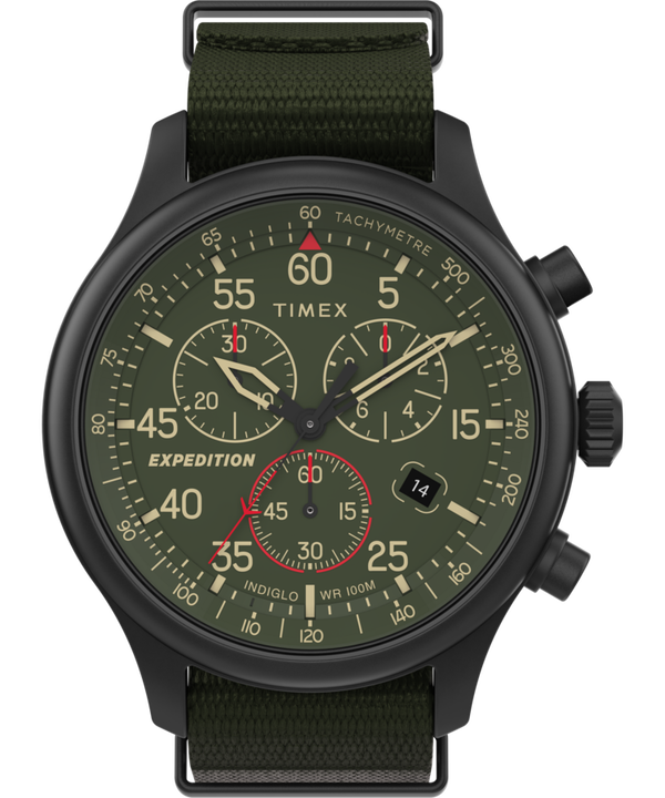 Expedition Field Chronograph 43mm Fabric Strap Watch  large