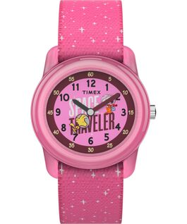 Timex x Space Snoopy Kids Analog 28mm Elastic Fabric Strap Watch Purple large