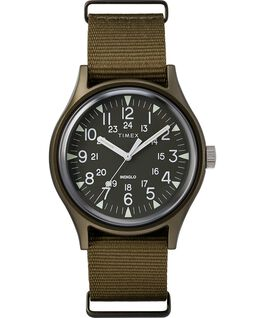 MK1 Aluminum 40mm Nylon Strap Watch Brown large