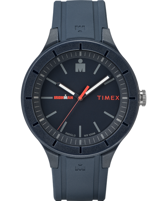 IRONMAN 43mm Silicone Strap Watch Blue/Red large