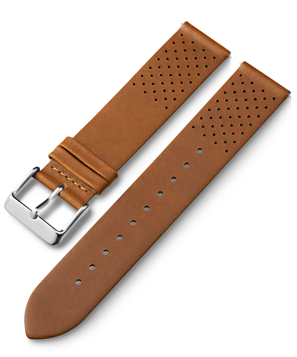20mm Quick Release Matte Leather Strap Tan large