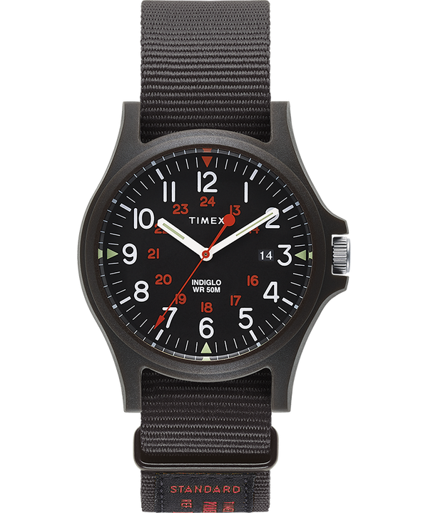 Acadia 40mm Military Grosgrain Strap Watch  large