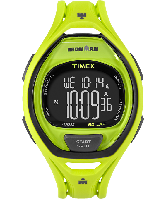 IRONMAN Sleek 50 Full-Size 42mm Resin Strap Watch Green/Black large