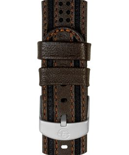 18mm Fabric with Leather Strap Brown large
