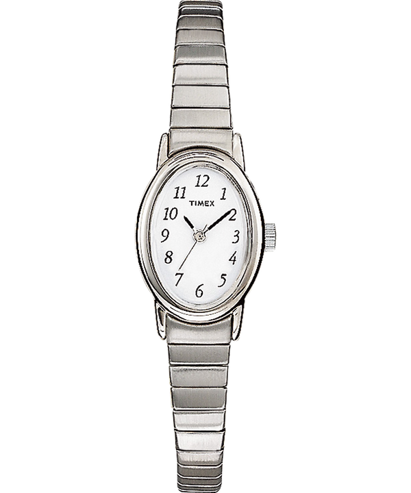Cavatina 18mm Expansion Band Watch Silver-Tone/White large