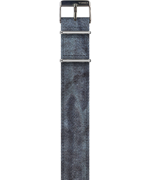 Stone Washed Seasoned Twill Strap Blue large
