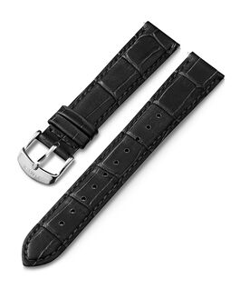 18mm Quick Release Leather Strap Black large