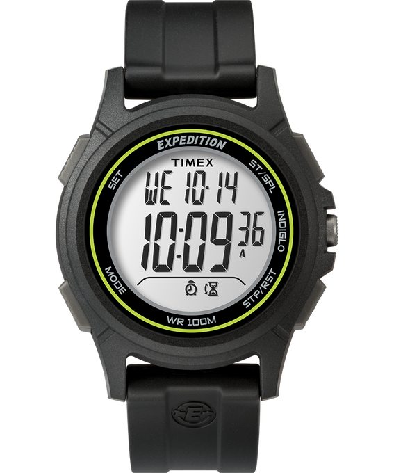 Baseline Digital 41mm Resin Strap Watch Black/Green large