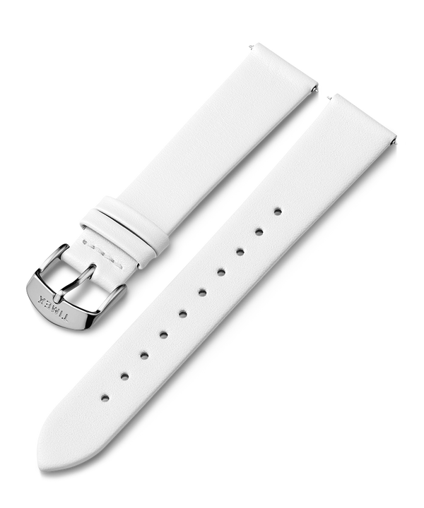 18mm Leather Strap White large
