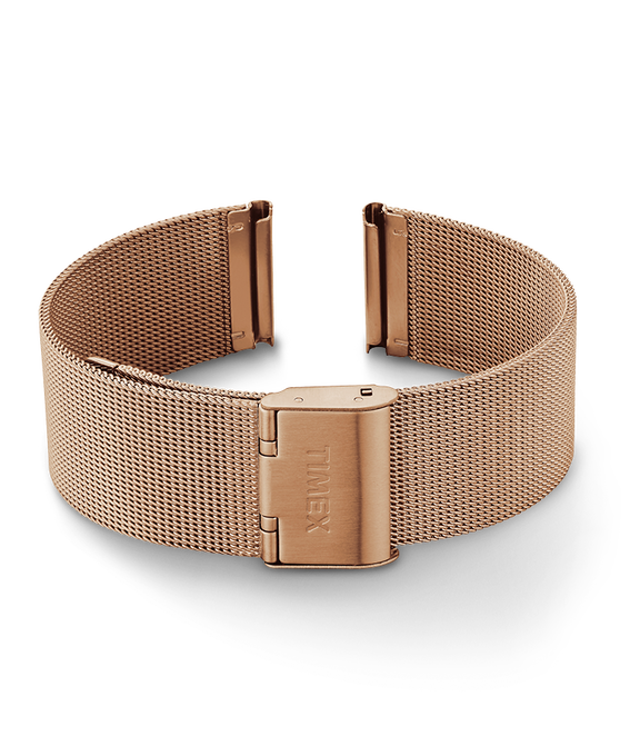20mm Womens Mesh Band Rose-Gold-Tone large