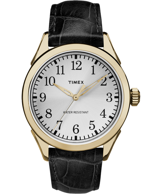 Briarwood Terrace 40mm Leather Watch Gold-Tone/Black/Silver-Tone large