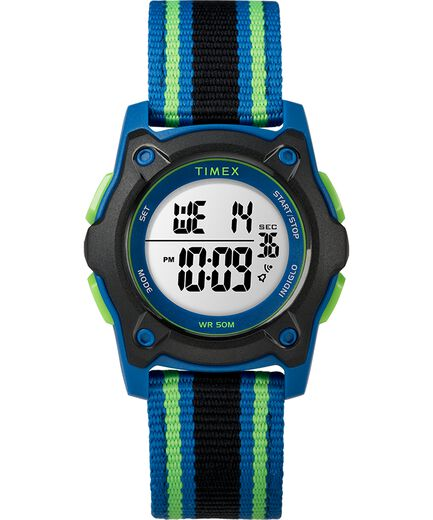 32218f3c4 Youth Digital 35mm Double Layer Striped Nylon Strap Watch - Timex CA