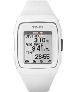 IRONMAN GPS 38mm Silicone Strap Watch White/Gray large
