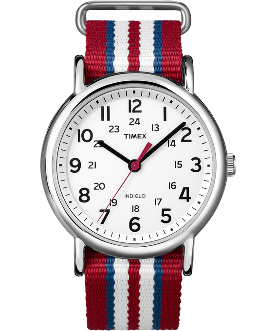 Weekender Stripe 38mm Nylon Strap Watch  large