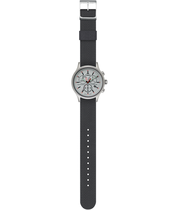 Allied Chronograph 42mm Reversible Fabric Strap Watch  large