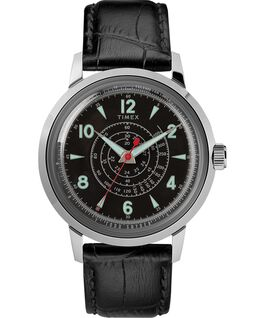 Timex x Todd Snyder Beekman 40mm Leather Strap Watch Stainless-Steel/Black large