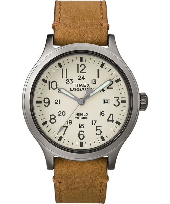 Expedition Scout 43mm Leather Watch  large